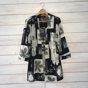 Tori Alexander Leaf Print Kimono